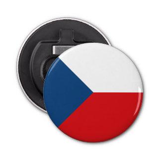 Czech Republic Flag Button Bottle Opener