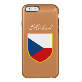 Czech Republic Flag Customized Incipio Feather® Shine iPhone 6 Case
