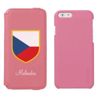 Czech Republic Flag Customized Incipio Watson™ iPhone 6 Wallet Case
