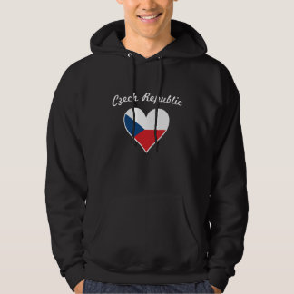 Czech Republic Flag Heart Hoodie