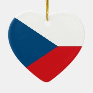 Czech Republic Flag Heart Ornament