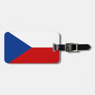Czech Republic flag Luggage Tag