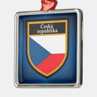 Czech Republic Flag Metal Ornament