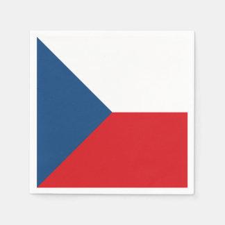 Czech Republic Flag Paper Napkin