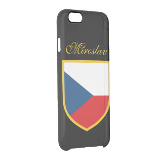 Czech Republic Flag Personalized Clear iPhone 6/6S Case