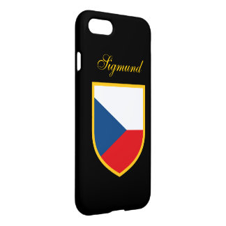 Czech Republic Flag Personalized iPhone 7 Case