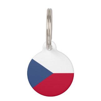 Czech Republic Flag Pet ID Tag