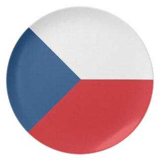 Czech Republic Flag Plate
