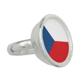 Czech Republic Flag Ring
