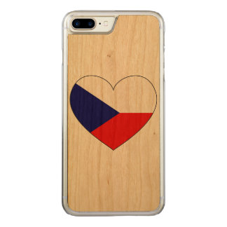 Czech Republic Flag Simple Carved iPhone 7 Plus Case