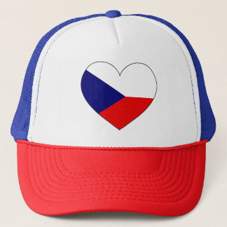 Czech Republic Flag Simple Trucker Hat