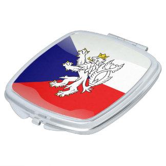 Czech Republic glossy flag Compact Mirrors