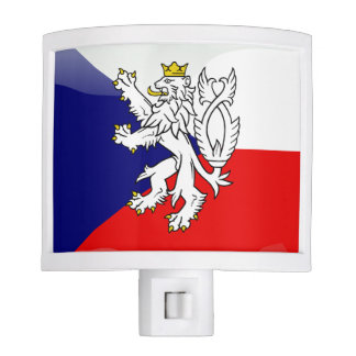 Czech Republic glossy flag Night Lite
