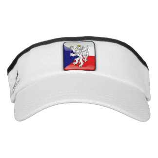 Czech Republic glossy flag Visor