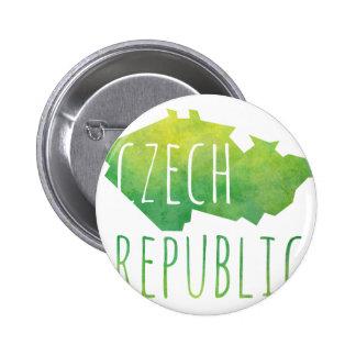 Czech Republic Map 2 Inch Round Button