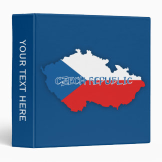 Czech Republic Map and Flag 3 Ring Binders