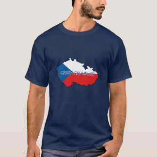 Czech Republic Map and Flag T-Shirt
