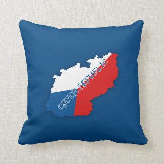 Czech Republic Map and Flag Throw Pillow