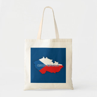 Czech Republic Map and Flag Tote Bag