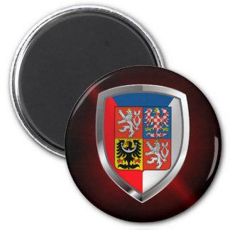 Czech Republic Metallic Emblem Magnet