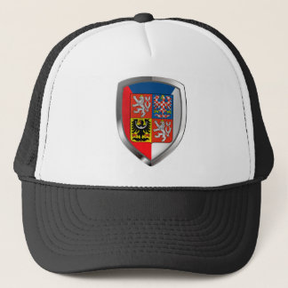 Czech Republic Metallic Emblem Trucker Hat