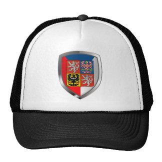 Czech Republic Metallic Emblem Trucker Hat