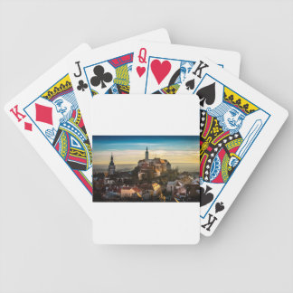 Czech Republic Skyline Bicycle Playing Cards