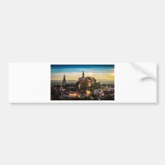 Czech Republic Skyline Bumper Sticker