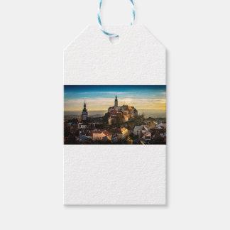 Czech Republic Skyline Gift Tags