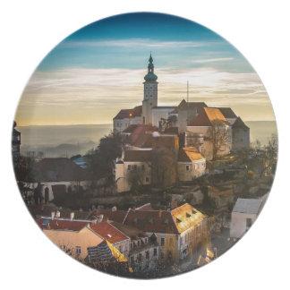 Czech Republic Skyline Plate
