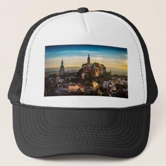Czech Republic Skyline Trucker Hat