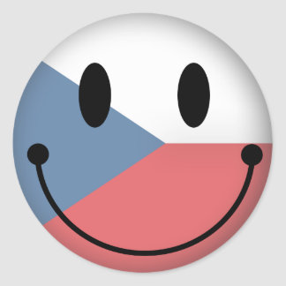 Czech Republic Smiley Classic Round Sticker