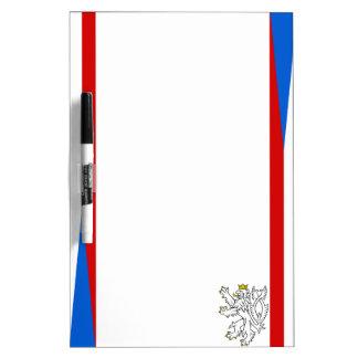 Czech Republic stripes flag Dry Erase Board