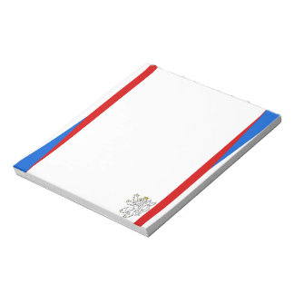 Czech Republic stripes flag Notepad