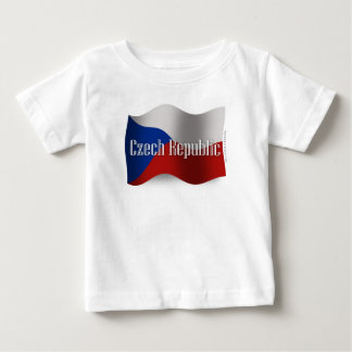 Czech Republic Waving Flag Baby T-Shirt