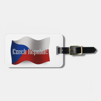 Czech Republic Waving Flag Bag Tag