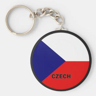 Czech Roundel quality Flag Keychain