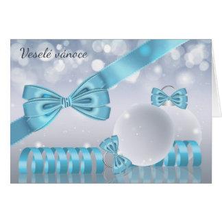 Czech - Stylish Christmas Greeting Card oranaments