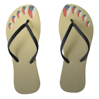 Czech touch fingerprint flag flip flops