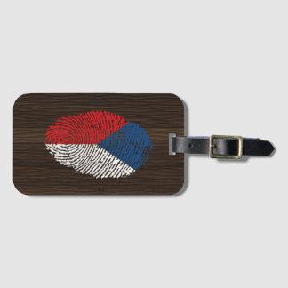 Czech touch fingerprint flag luggage tag