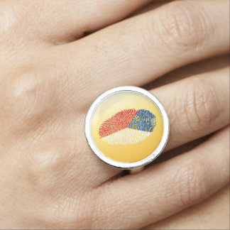 Czech touch fingerprint flag photo rings