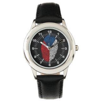 Czech touch fingerprint flag wristwatch