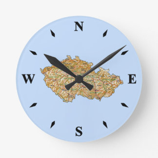 Czechia Map Clock