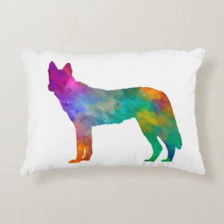 Czechoslovakian Wolfdog in watercolor Accent Pillow