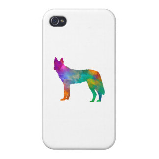 Czechoslovakian Wolfdog in watercolor Cover For iPhone 4