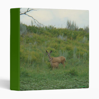 D0005 Mule Deer Doe and Fawn 3 Ring Binders