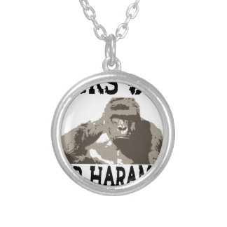 D1cks for Out Harambe Silver Plated Necklace