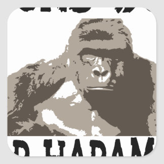 D1cks for Out Harambe Square Sticker