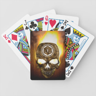 d20 Critical Fail Death Skull Bicycle Playing Cards