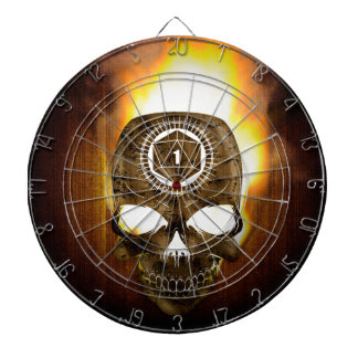 d20 Critical Fail Death Skull Dartboard